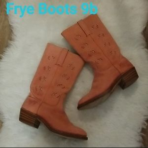 ❣Frye Boots Austin Coral Suede Riding Boots 9m